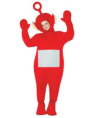 Teletubbies - Po Adult Costume-One Size Fits Most-Red by Rasta Imposta
