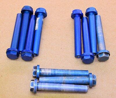 used OEM Yamaha TZ Head Bolts, blue 700, 750 250, 350  76 mm