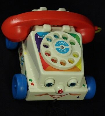 Fisher-Price Mattel 2009 CHATTER TELEPHONE Child Pull-Toy With Sound