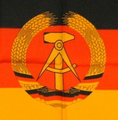 1976 East German National Window Flag Banner Zellwolle Rayon 2 Sided 40 x 60 cm