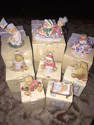 Lot Of 9 Enesco Cherished Teddies With Boxes
