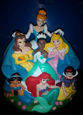 Disney Parks Exclusive -7  Princesses Ariel/Tiana/Belle/Snow - Plastic Coin Bank