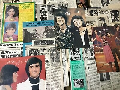 Lot Vintage Clippings ~ DONNY and MARIE OSMOND ~ Pics