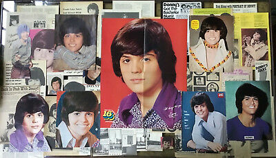 Lot Vintage Clippings ~ DONNY OSMOND ~ Early Pics / Features / Pin-Up