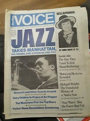 The Village Voice July 4 1977 Jazz Takes Manhattan, Bellaphobia Cbgb Ads & More