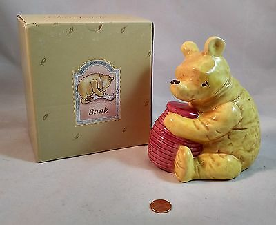 Classic Charpente Winnie the Pooh with Honey Pot ceramic bank with box