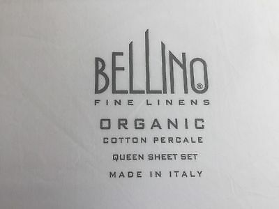 BELLINO Luxury Linens ✧ King Sheet Set ✧ Organic Percale Cotton ✧ Made in Italy