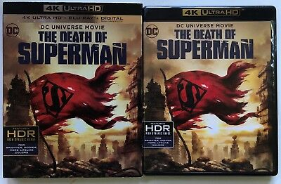 Dc Comics The Death Of Superman 4K Ultra Hd Blu Ray 2 Disc Set+ Slipcover Sleeve