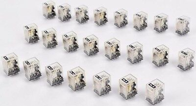 Lot of 23 Omron Automation MY4 24VDC 5A 240VAC 14-PIN Relay Module Units