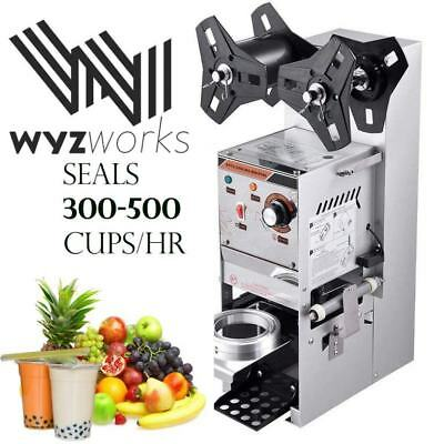 WYZworks 350W Semi Automatic Tea Cup Sealing Machine 300-500 cups/hr for Bubble