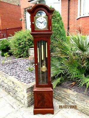 """Quality  """" Sewills """"  Liverpool  Moon Phase 8 Day Westminster chiming clock."""