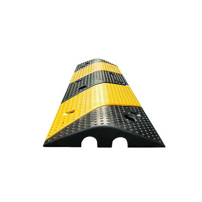 1m 2 Channel Cable Protector Speed Hump Rubber Heavy Duty 15t Load Drop Over