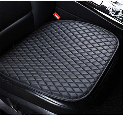 Black Universal Car Front Seat Cover PU Leather Dog Pooch Mat Protector Cushion