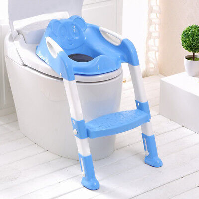 NEW Adjust Toddler Kids Potty Training Toilet Step Ladder Seat Safety Child Loo