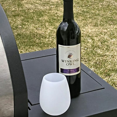Unbreakable Stemless Silicone Wine Cup Foldable Outdoor Camping Juice White Cup