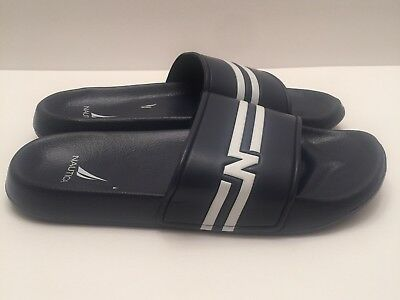 bd9936153161c 🔴 NAUTICA KINGSTON Navy Blue Slide Athletic Sandals Men's Size 10 New