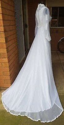 Vintage Wedding Gown Sz 12 (Dundee Fashions Of  Brisbane) 1980's