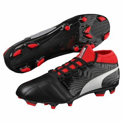 Puma One 18.3 FG Soccer Football Boots- Black/Red