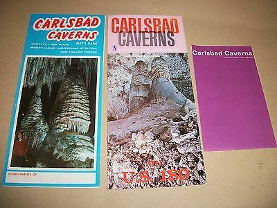 3 Carlsbad Caverns brochures/guides (from the late 1960s/early 1970s)