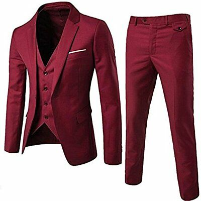 Custom One Button Men suits Wedding Suits For Men Groom Tuxedos 3 Pieces Suits