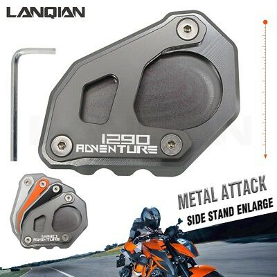 Motorcycle Gray& CNC Side Stand Plate Enlarge For KTM 1290 Adventure Super ADV