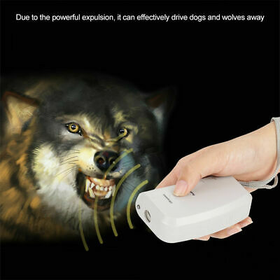 Ultrasonic Dog Chaser Aggressive Pet Stop Attack Repeller Dog Trainer Device