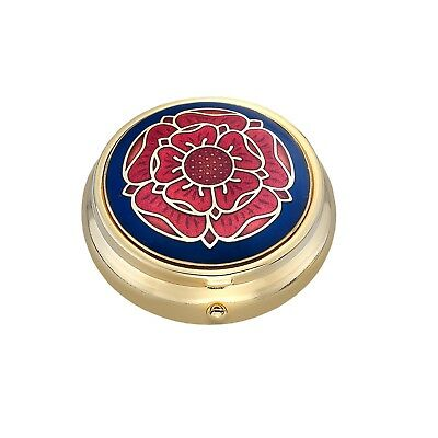 Pillbox Gold Plated Tudor Rose Brand New and Boxed