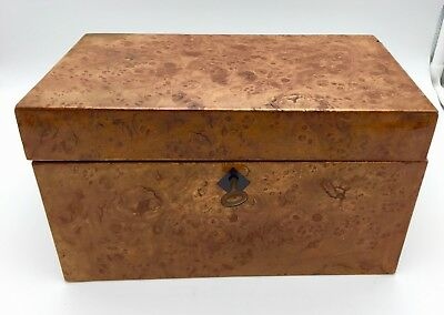 Antique Burr Oak Tea Caddy circa 1820