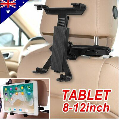 "360° Car Seat Back Headrest Mount Holder 8-12"" Tablet For iPad GPS Bracket AU"