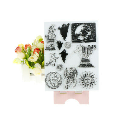 Halloween witch Transparent Silicone Clear Stamps for Scrapbooking Album Cards S
