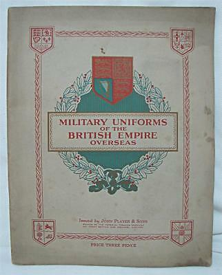 OLD John Player and Sons Cigarette Card Album COMPLETE Military Uniforms British
