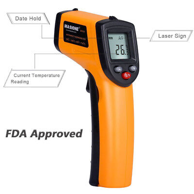 Handheld Digital Laser Thermometer Temperature Infrared Non-Contact IR Gun US