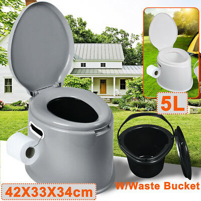 5L Portable Toilet Camping Picnic Travel Potty Loo Compact Seated Toilet