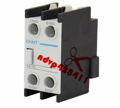 1PC New AC Auxiliary Contact F4-11 For CJX2 CJX4 LC1 Series Contactor