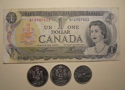 Note & Coins From Canada.