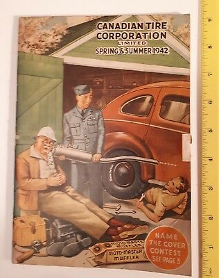 """Rare Wartime """"canadian Tire Corp. 1942 Spring And Summer Catalogue - Mint"""