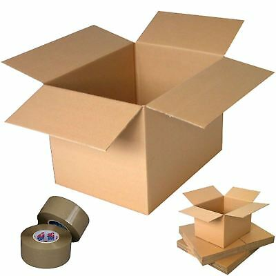 "Large UK Cardboard Packing Boxes 21x16x12"" Parcel Posting Moving Storage Cartons"