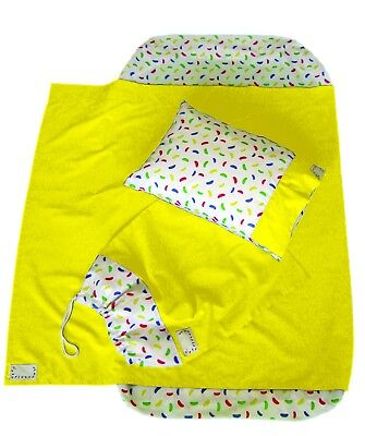 JLYBNZ Kindy Sheets - Pineapple colour (Set Includes Sheets Only + Free Pillow)