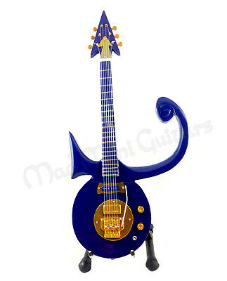 Miniature Guitar PRINCE with free stand PURPLE SYMBOL
