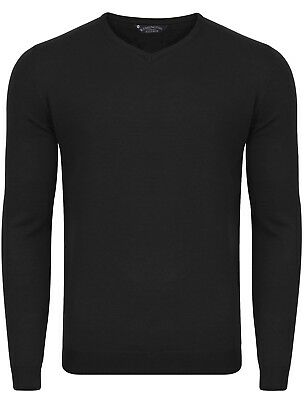 Mens Kensington Eastside Renold V Neck Long Sleeve Jumper Knitted Top Size M-XXL