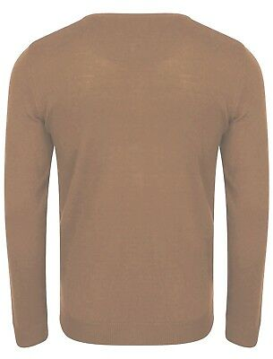 Mens Kensington Eastside Renold V Neck Long Sleeve Jumper Knitted Top Size XXL
