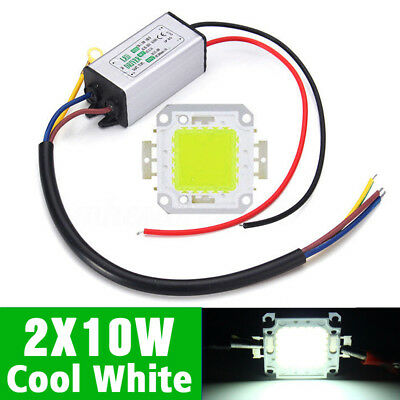 2X10W LED Cold white  CHIP + 10W LED Driver Transformer Constant Current IP65