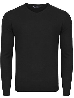 Mens Kensington Eastside Renold V Neck Long Sleeve Jumper Knitted Top Size M