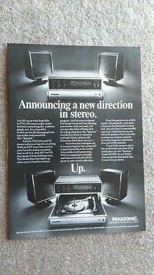 1970 PANASONIC STEREO Vintage Magazine Print Ad ADVERTISEMENT 1970's