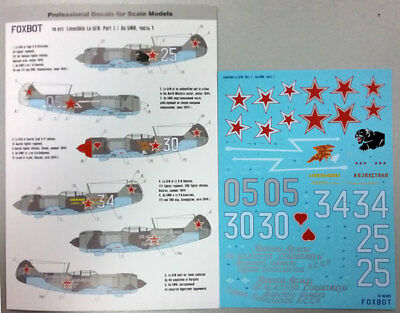Foxbot 1/48 Decal La-5FN (Part 1). № 48-023