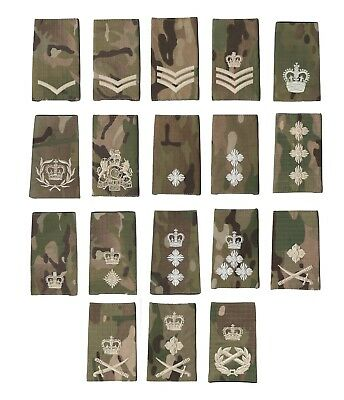 MTP Rank slide British army ACF army cadet SAS Para single slide used condition
