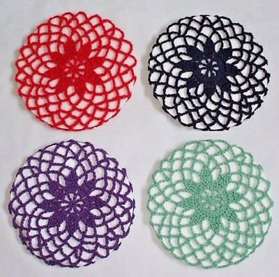 VINTAGE STYLE 1940's FLOWER SNOODS IN VARIOUS COLOURS - HAND CROCHETED