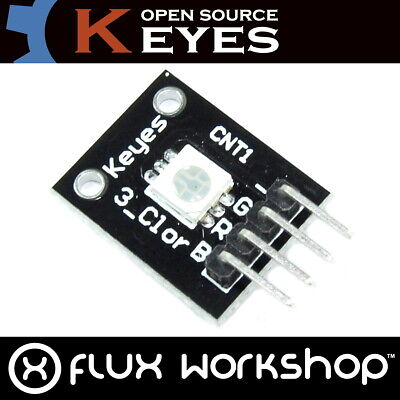 Keyes 5050 RGB LED Module 5V KY-009 Arduino Raspberry Pi PWM Flux Workshop