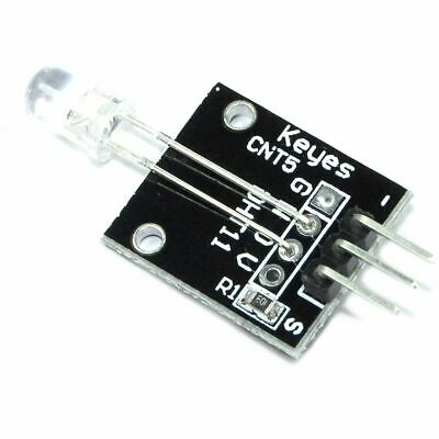 Keyes 5mm Auto Flashing RGB LED 7 Colour Fade Red Green KY-039 Flux Workshop