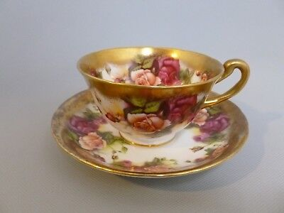 Royal Chelsea Golden Rose Cup & Saucer English Bone China Made in England